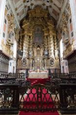 Igreja dos Grilos church interior - Stock Image