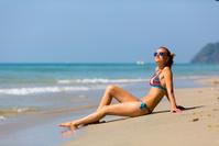 Sexy women sunbathing in Thailand