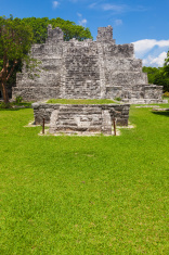 El Meco, Mayan archeological site near Cancun, Mexico