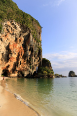 Phra nang cave beach vertical Kribi Thailand