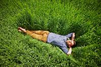 Man Sleeping In The Field