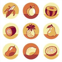 Fruits icons set 2