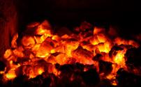 coals burning down