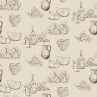 Winery seamless pattern
