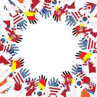 Flag hands vector illustration