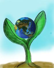 earth painting cg