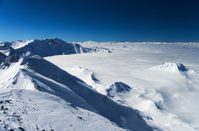Winter high mountains