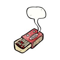 cartoon talking matchbox