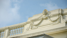 Ancient art decorate stucco on classic building