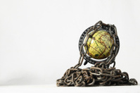 Vintage Old Globe Earth