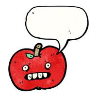 cartoon ugly apple
