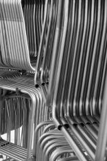 Racks of steel tubes