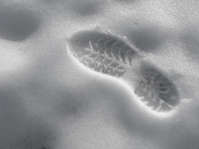 footprint in the snow 2
