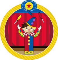 Cute Cartoon Circus Clown