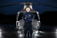 Paramedic and Medevac Helicopter