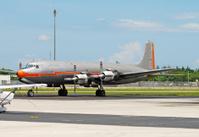 Vintage turboprop airplane