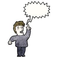 cartoon man shouting warning