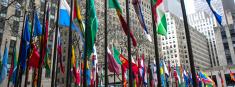Rockefeller Center Flags In New York City