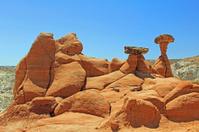 Red sandstone formation