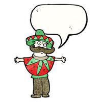 cartoon mexican costume man