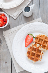 Liege waffles and strawberries