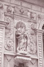 Facade of Mariacka Basilica Church; Krakow