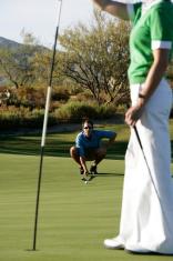Golf Caddy and Golfer