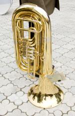 trumpet on pavement