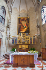 Vienna - Church of the Teutonic Order and wings altar