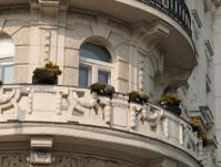 balcony in Vienna, Austria