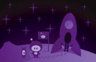 Rocket boy and alien