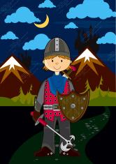Fierce Royal Knight with Sword & Shield 1