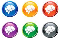 Brain button royalty free vector art