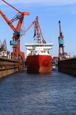 Vessel in the dry dock