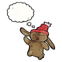 cute rabbit in hat cartoon