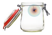 little planet in glass jar