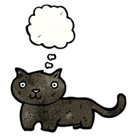 black cat cartoon