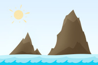 Rock islands illustration