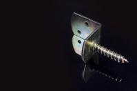 metal bracket with screw