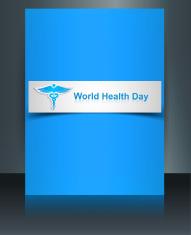 Caduceus medical symbol brochure beautiful World health day temp