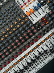 Recording studio mixing board