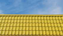 Yellow roof tiles.