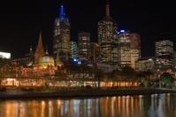 Flinders Street Melbourne Skyline