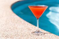 Cocktail Margarita near swim pool