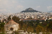 Lycabettous Hill And Ancient Market, Athens