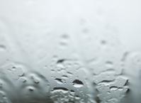 rain drops through the window