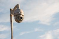 CCTV cameras with blue sky