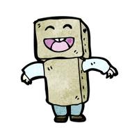 cartoon boy in cardboard robot outfit