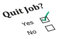 Quit job check mark