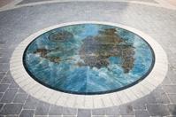 St. Martin map on sidewalk
